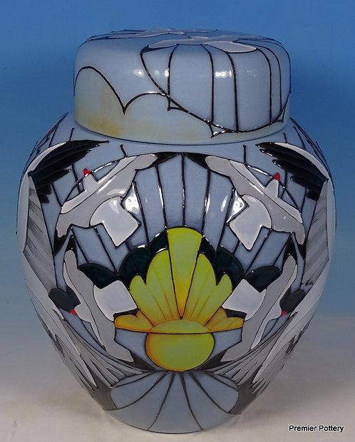 "MOORCROFT Silver Gulls Spirit of Australia Ltd Ed Large 7.5"" Ginger Jar RRP £824"