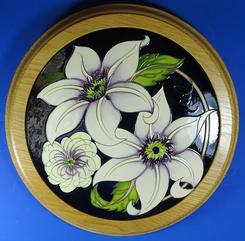 """MOORCROFT Pure Innocence I Am Not My Father 12"""" Round Plaque Trial RRP £300"""