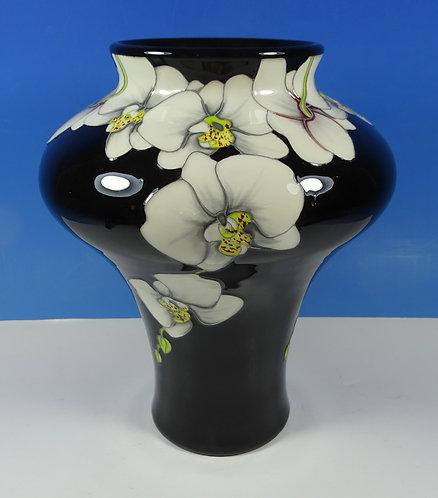"MOORCROFT Moth Orchid 10/8 Seconds 8"" Vase"