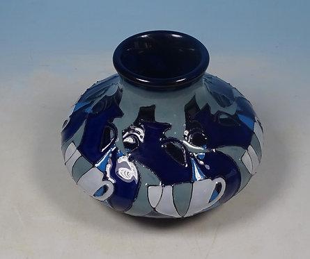 MOORCROFT Portland Vases & Tea Cups Vicky Lovatt Trial 33/3 Vase RRP £270