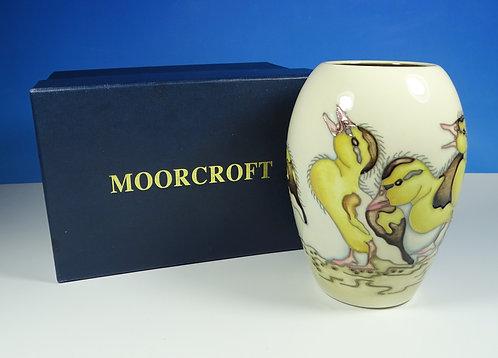 "MOORCROFT Spring Ducklings 102/5 5"" Vase 1st Quality RRP £310 BNIB"