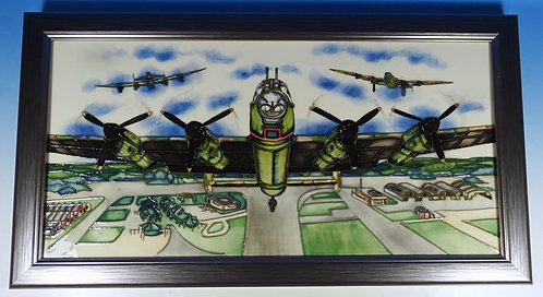 MOORCROFT The Return WWII Lancaster Bombers Plaque RRP £1120