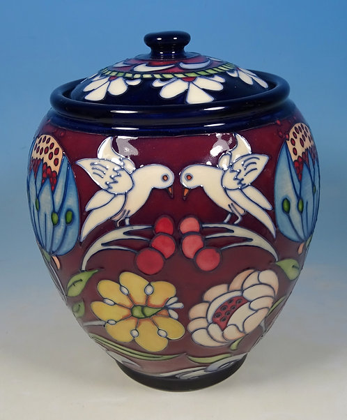 MOORCROFT Lidded Box Jar L/E 28 of 50 RRP £625 Chasuble by Rachel Bishop