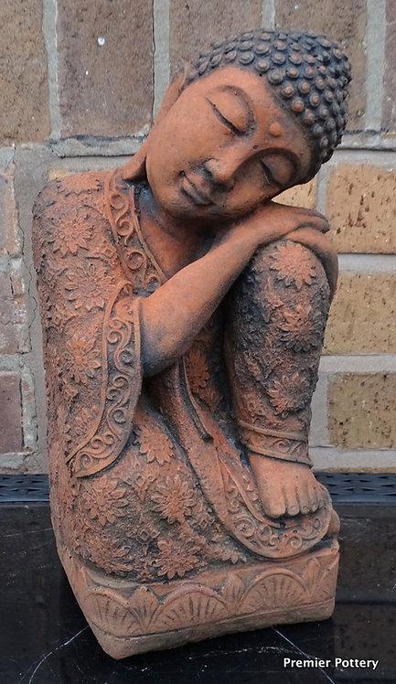 Terracotta Stone Serene Buddha Superb Detail