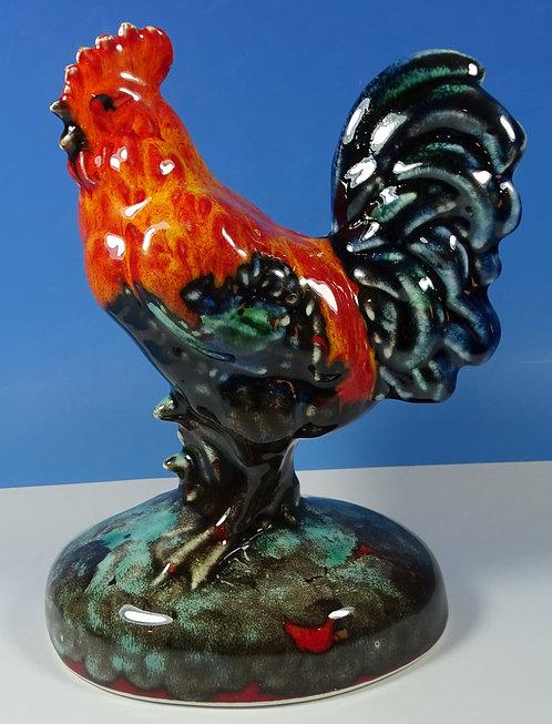 "Anita Harris Art Pottery Hand Painted 7"" Farmyard Cockerel Rooster"