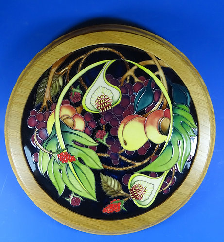 MOORCROFT Queen's Queens Choice Framed Wall Plaque Emma Bossons RRP £440