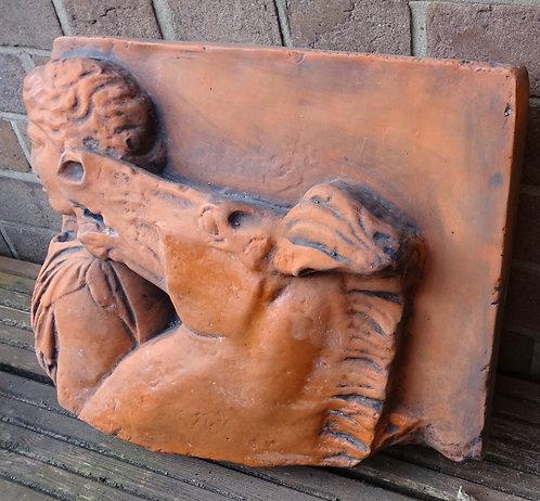 Architectural Detail Terracotta Stone Parthenon Horse Fragment Plaque