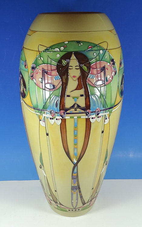 """MOORCROFT The May Queen Magnificent Mackintosh Trial Large 18"""" Vase Seconds"""