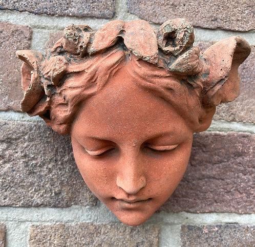 Beautiful Terracotta Stone Head Melody Josephine In The Art Nouveau Style