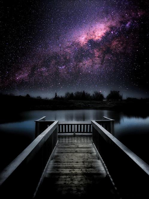 Stargazing on the Dock (Yesness Pond, Casper)