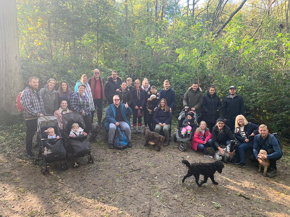 group photo of mini ramble day