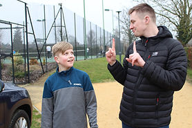PA using BSL to deaf boy