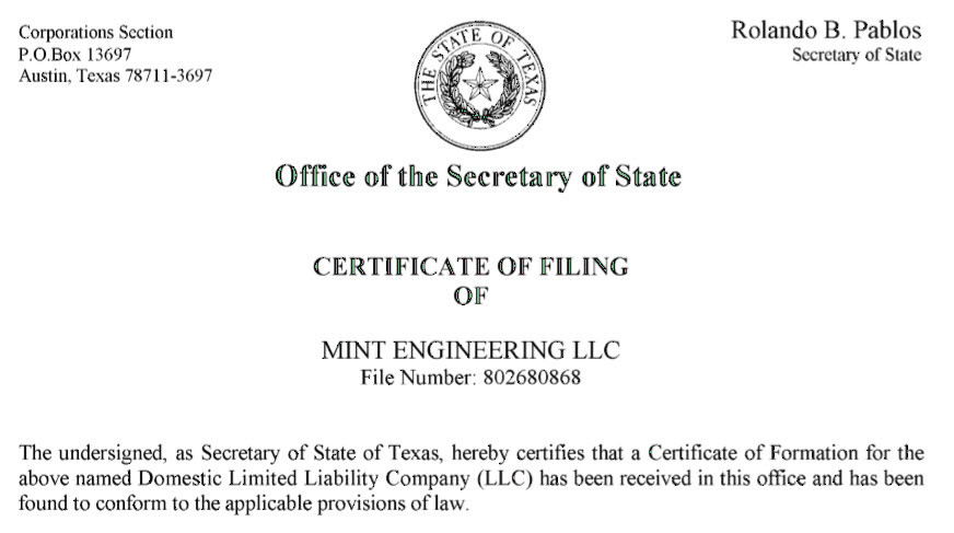 Mint Engineering MEP Engineer in Austin TX Lakeway