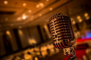 Vintage gold microphone  in party.jpg