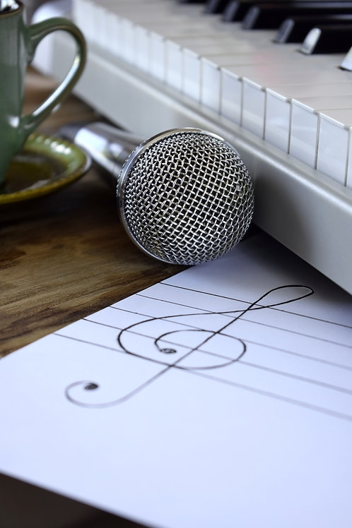 Writing an original song for the singer