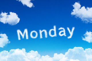 Days of the week - monday cloud word wit