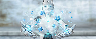 white-woman-robot-using-digital-screen-i