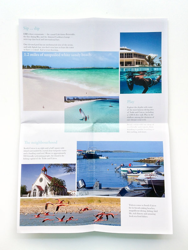 Second unfolding of East Bay Resort Brochure
