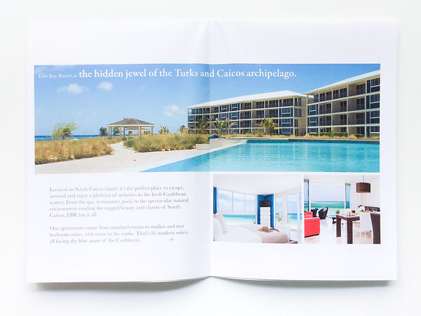 First unfold of East Bay Resort Brochure