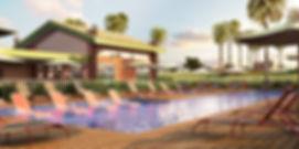 projeto paiagismo loteamento piscina deck molhado