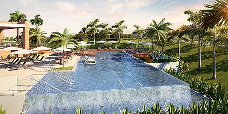 projeto paisagismo loteamento piscina comborda infinita