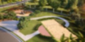 projeto paisagismo loteamento residencial vista área quadras plyground