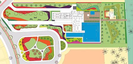 projeto de paisagismo loteamento com piscina