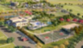 projeto paisagismo loteamento residencial vista área lazer