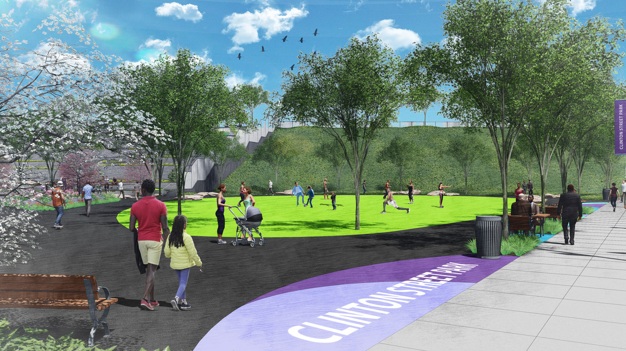 Open lawn for events and sports