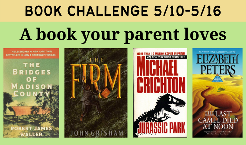 Book challenge: a book your parent loves