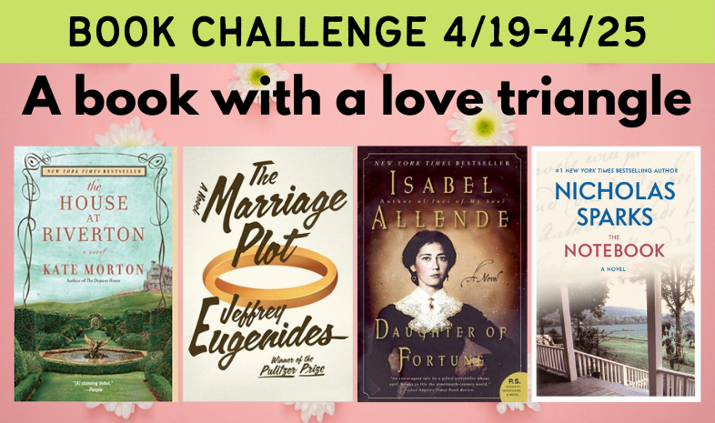 Book challenge: a book with a love triangle
