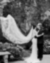 Real bride by Brooklyn Wedding Dress bridal designer Loulette Bride, made in New York, Boutique