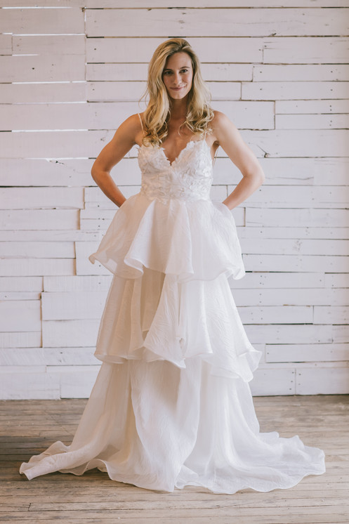 Image result for silk organza offwhite gown