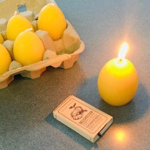 Pure Beeswax Egg Candle (1)
