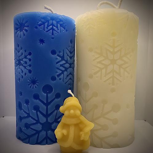 Snowflake Pillar (White base)