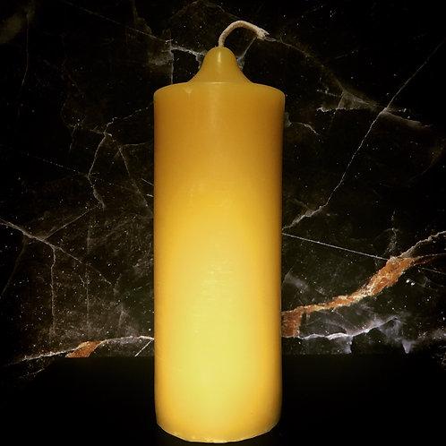 """Classic 8"""" Beeswax Pillar (bell top)"""