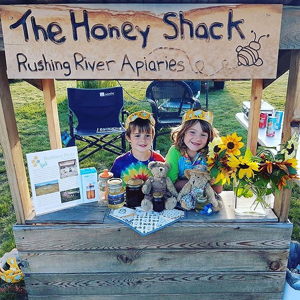 The honey shack is open all day today at