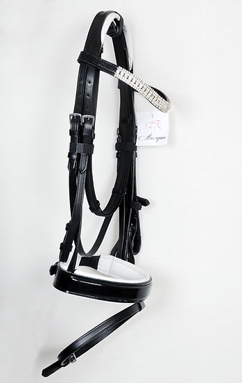 LEATHER HORSE DRESSAGE BRIDLE