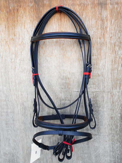 LEATHER BRIDLE BROWN COLOR, BROWN PADDED WITH ANTI-SLIP REIN