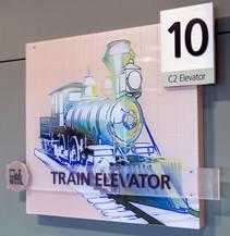 Train Wayfinding Sign
