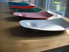 Fiberglass display bowls