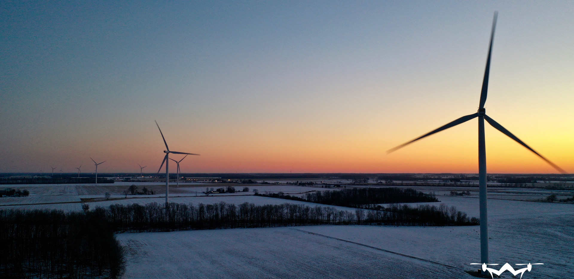 Windmill Farm Drone Patman Droneography