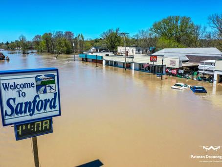 Drone Photos/Video - Midland Flood 2020 - Patman Droneography