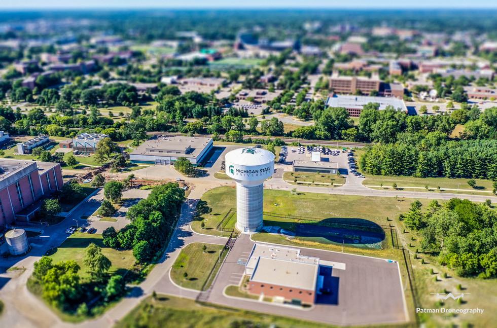 Michigan State Water Tower - Patman Dron