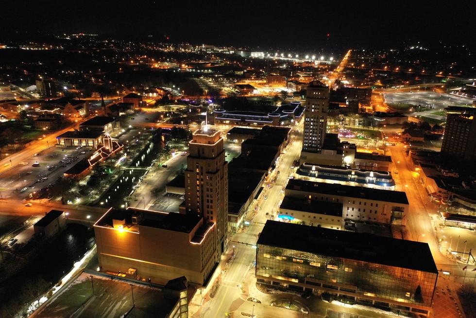 Downtown Battle Creek Drone - Patman Droneography