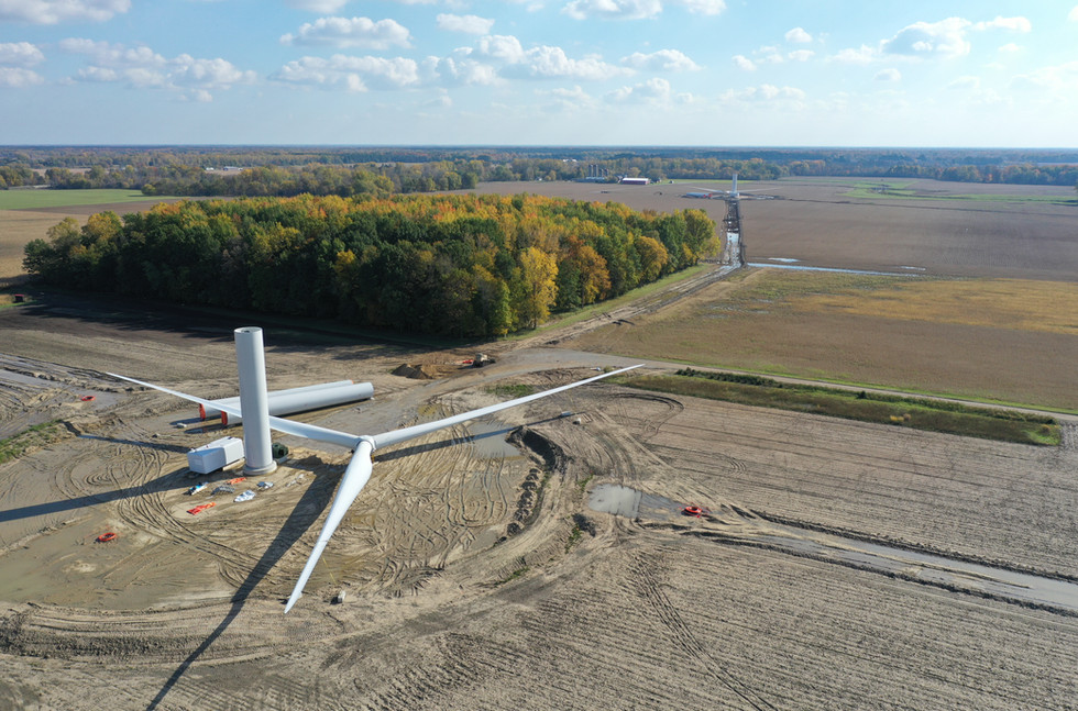 Windmill Drone Michigan Patman Droneography