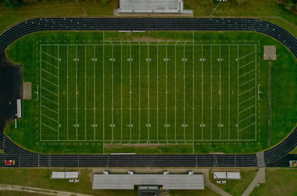 Pennfield Highschool Football Field Drone Patman Droneography