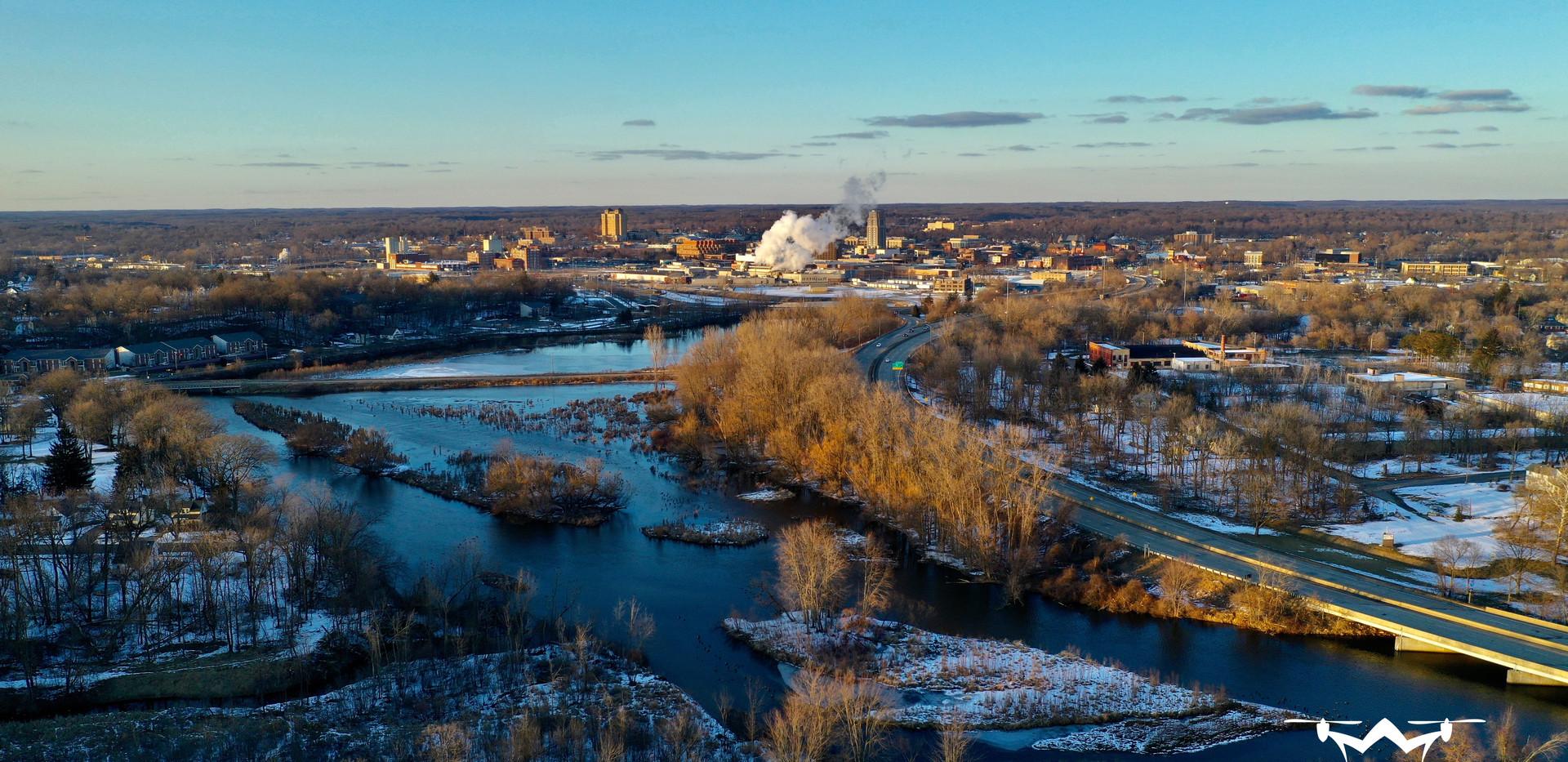 Battle Creek Overlook Drone Patman Droneography