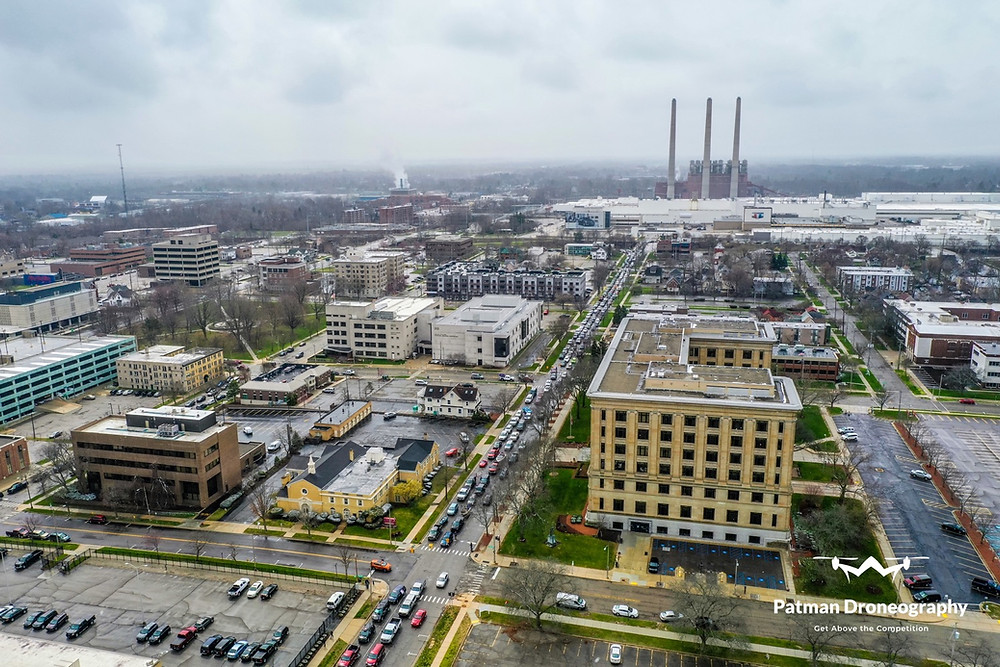 Operation Gridlock -*DRONE FOOTAGE*- Lansing Michigan Protest - Patman Droneography