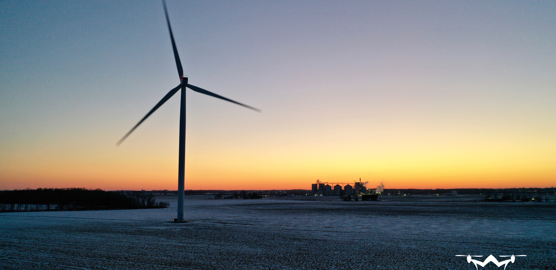 Windmill Sunset Drone Patman Droneography
